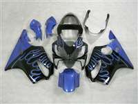 2001-2003 Honda CBR 600 F4i Electric Blue Flame Fairings | NH60103-2
