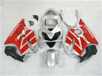 2001-2003 Honda CBR 600 F4i Silver/Red OEM Style Fairings | NH60103-27