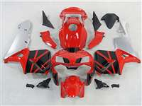 2003-2004 Honda CBR 600RR Red/Silver OEM Style Fairings | NH60304-67