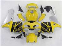 2003-2004 Honda CBR 600RR Yellow/Black/Silver Fairings | NH60304-68