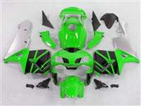2003-2004 Honda CBR 600RR Green/Silver Fairings | NH60304-70