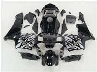 2003-2004 Honda CBR 600RR Silver Tribal on Black Fairings | NH60304-82