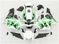 2003-2004 Honda CBR 600RR Crazy Green Flame Fairings | NH60304-86