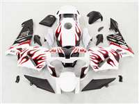 Crazy Red Flame 2003-2004 Honda CBR 600RR Motorcycle Fairings | NH60304-87