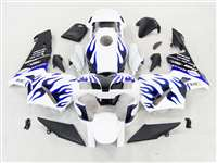 Crazy Blue Flame 2003-2004 Honda CBR 600RR Motorcycle Fairings | NH60304-88