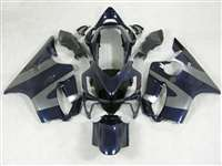 2004-2006 Honda CBR 600 F4i Midnight Blue/Silver Fairings | NH60406-1