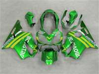 2004-2006 Honda CBR 600 F4i Green Movistar Fairings | NH60406-11
