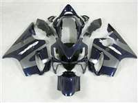 2004-2006 Honda CBR 600 F4i Midnight Blue/Silver Fairings | NH60406-22
