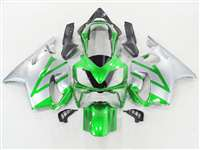 2004-2006 Honda CBR 600 F4i Metallic Green/Silver Fairings | NH60406-34