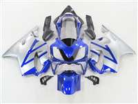 2004-2006 Honda CBR 600 F4i Metallic Blue/Silver Fairings | NH60406-35
