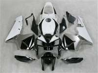 2005-2006 Honda CBR 600RR White/Silver/Black Fairings | NH60506-19