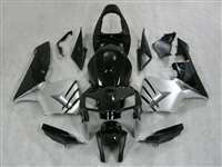 2005-2006 Honda CBR 600RR Black/Silver Fairings | NH60506-20