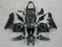 2005-2006 Honda CBR 600RR Silver Tribal on Black Fairings | NH60506-25