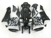 2005-2006 Honda CBR 600RR Silver Tribal on Black Fairings | NH60506-28