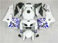 2005-2006 Honda CBR 600RR White/Blue Tribal Fairings | NH60506-3