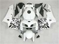 2005-2006 Honda CBR 600RR Black Tribal on White Fairings | NH60506-39