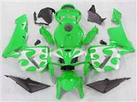 2005-2006 Honda CBR 600RR Silver Tribal on Green Fairings | NH60506-40