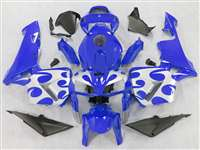 2005-2006 Honda CBR 600RR Blue with Silver Tribal Fairings | NH60506-41