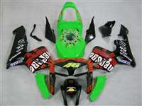 2005-2006 Honda CBR 600RR Green Rossi Repsol Fairings | NH60506-44