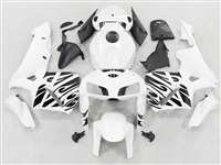 2005-2006 Honda CBR 600RR Black Tribal on White Fairings | NH60506-46