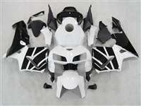 2005-2006 Honda CBR 600RR Pure White/Black Fairings | NH60506-53