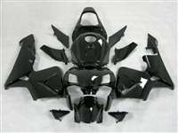 2005-2006 Honda CBR 600RR Black/Silver Fairings | NH60506-6