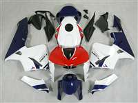 2005-2006 Honda CBR 600RR White/Blue/Red Fairings | NH60506-62