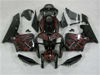 2005-2006 Honda CBR 600RR Dual Red Flame Fairings | NH60506-69