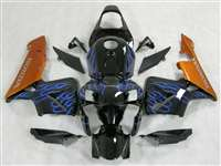 2005-2006 Honda CBR 600RR Blue Flame/Gold Fairings | NH60506-84