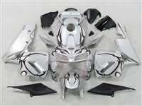 2005-2006 Honda CBR 600RR Silver/Black Tribal Fairings | NH60506-92