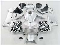 2005-2006 Honda CBR 600RR Black Tribal on Silver Fairings | NH60506-93