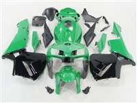2005-2006 Honda CBR 600RR Green/Black Fairings | NH60506-97