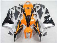 2007-2008 Honda CBR 600RR Orange/Silver Fairings | NH60708-1