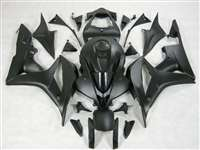 2007-2008 Honda CBR 600RR Satin Black Fairings | NH60708-10
