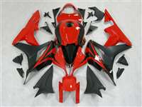 2007-2008 Honda CBR 600RR Black/Red OEM Style Fairings | NH60708-12