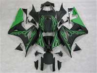 Matte Green Flame 2007-2008 Honda CBR 600RR Fairings | NH60708-18
