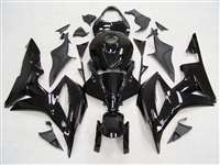2007-2008 Honda CBR 600RR Charcoal/Black Fairings | NH60708-43