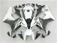 2007-2008 Honda CBR 600RR White/Black Fairings | NH60708-44