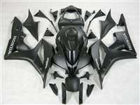 2007-2008 Honda CBR 600RR Satin Black Fairings | NH60708-49