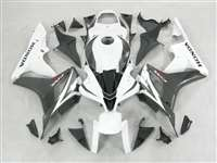 2007-2008 Honda CBR 600RR Black/White Fairings | NH60708-52
