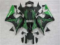 Matte Green Flame 2007-2008 Honda CBR 600RR Fairings | NH60708-54