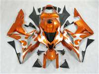 2007-2008 Honda CBR 600RR Metallic Orange Tribal Fairings | NH60708-56