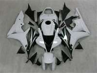 2007-2008 Honda CBR 600RR White/Black Fairings | NH60708-62