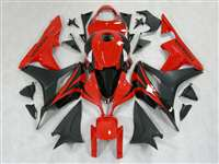 2007-2008 Honda CBR 600RR Black/Red OEM Style Fairings | NH60708-64