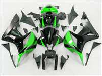 2007-2008 Honda CBR 600RR Green/Silver Fairings | NH60708-77