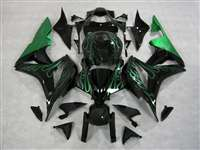 2007-2008 Honda CBR 600RR Metallic Green Fire Fairings | NH60708-8