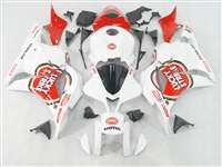2009-2012 Honda CBR 600RR White Lucky Strike Fairings | NH60912-17