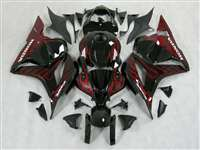 2009-2012 Honda CBR 600RR Black/Red Flame Fairings | NH60912-33