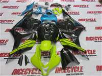 2009-2012 Honda CBR 600RR Neon Green/Blue Fairings | NH60912-53