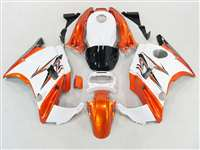 1991-1994 Honda CBR 600 F2 White/Burnt Orange Fairings | NH69194-18